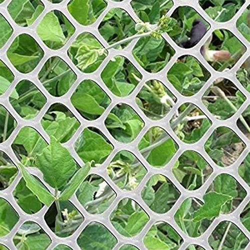 TORIS Plastic Chicken Wire Mesh Hexagonal Plastic Poultry Netting Extruded Plastic Chicken Wire Fence PVC Coated Plastic Poultry Netting (0.4m4m=1.3ftX13.1ft, White-1)