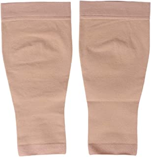 Healifty 30-40 mmHg Compression Stockings Medical Compression Stockings 30-40mmhg Open Toe Toeless Knee High Calf Compression Sleeve for Swelling Varicose Veins Edema (Nude, Size L)