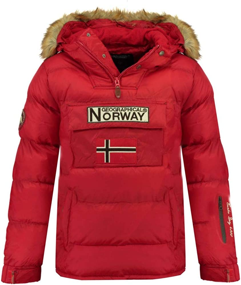 Geographical norway boker, giacca da uomo,parka,con cappuccio