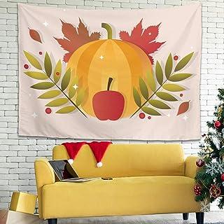 Hothotvery - Tapiz para pared con diseño de caricatura de Halloween (200 x 150 cm), color blanco