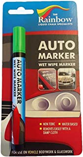 Car Paint Marker Pens Auto Writer Green - All Surfaces, Windows, Glass, Tire, Metal - Any Automobile, Truck or Bicycle, Water Based Wet Erase Removable Markers Pen