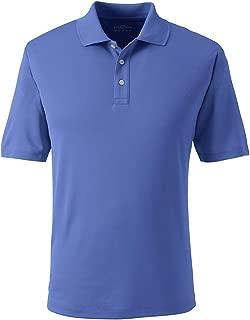 Lands' End Men's Big Short Sleeve Solid Active Polo Shirt