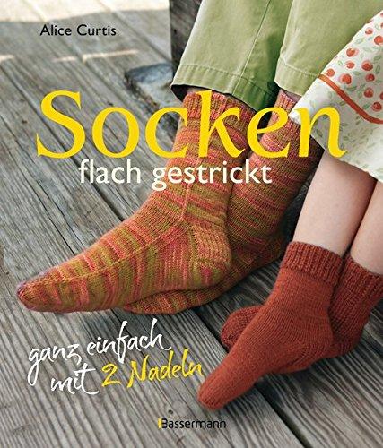 Socken flach gestrickt: ganz einfach mit 2 Nadeln