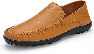Heimaolvczcx Chaussures Bateau Homme, Chaussures en Cuir Men Bateau Conduite Hommes Chaussures Slip sur Couleurs Casual Ca...