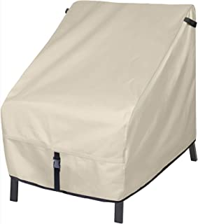 Porch Shield Patio Chair Covers - Waterproof Outdoor Lounge Deep Seat Cover - 34W x 37D x 36H inch, Beige