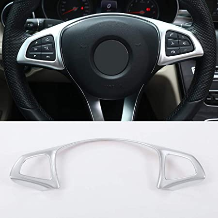 Car Steering Wheel Sticker Cover Trim Fit for Benz E Class W213 2016-2018