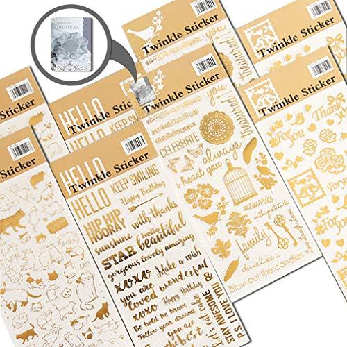 Aufkleber für Scrapbooking, Tagebuch, Planer, Partytüte, Events, Deko, Basteln, Tagebuch, selbstklebend