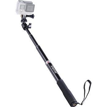 Smatree Extendable Aluminum Selfie Stick/Monopod Compatible for GoPro Max/Hero 8/7/6/5/4/3+/GOPRO Hero(2018)/AKASO GeekPro SJCAM SJ4000 SJ5000 Xiaomi Yi Camera Action Camera