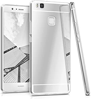 kwmobile Funda para Huawei P9 Lite - Carcasa Protectora Trasera de TPU para móvil en Plateado con Efecto Espejo