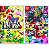 New Super Mario Bros. U Deluxe + Mario Kart 8 Deluxe - Two Game Bundle - Nintendo Switch