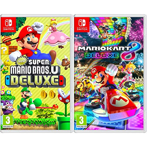 New Super Mario Bros. U Deluxe + Mario Kart 8 Deluxe - Two Game Bundle -...