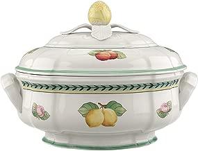 Villeroy & Boch 1022812360 French Garden Fleurence Soup Tureen, 84.5 oz, White/Multicolored