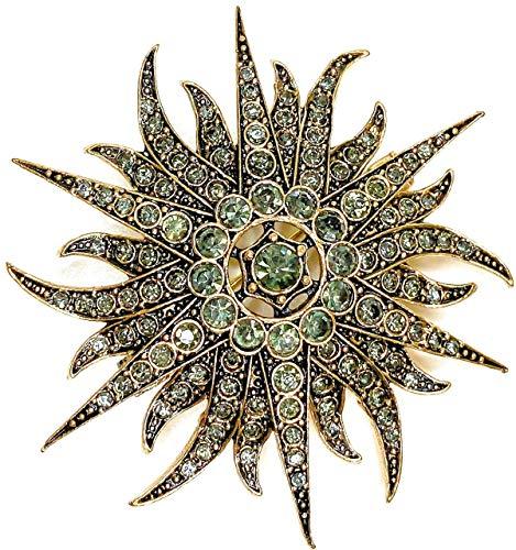 A&S Jewellery - Spille da donna a forma di riccio di mare con eleganti pietre preziose, spille da donna vintage e spille