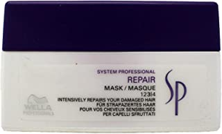 Wella SP Repair Hair Mask Intensively Restores High Damaged Hair and Medium to Coarse Hair, 200mL