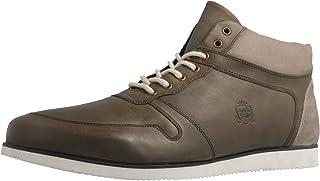 Manz - Zapatos de Cordones de Piel Lisa para Hombre Verde Verde Oliva