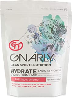 Gnarly Nutrition, Hydrate Electrolyte Powder with Trace Minerals, All Natural Workout Supplement, Ruby Red Grapefruit