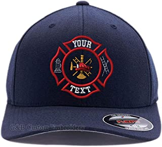 Yupoong Custom Hat. Firefighter Cap Flexfit 6277. Embroidered. Your Own Text on it.
