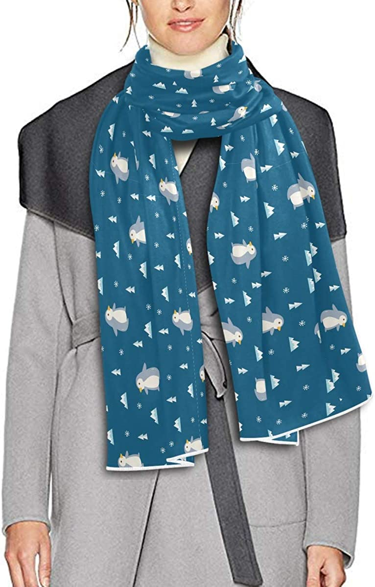 Scarf for Women and Men Cute Penguin Tree Mountain Shawls Blanket Scarf wraps Warm soft Winter Long Scarves Lightweight