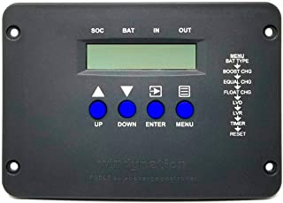 WindyNation P30LF Flush Mount 30A Solar Charge Controller with LCD Display and Battery Temperature Sensor