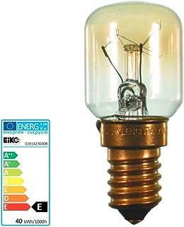 SH Backofenlampe Birnenform 26x57 mm Sockel E14 230 Volt 40 Watt 300 Grad