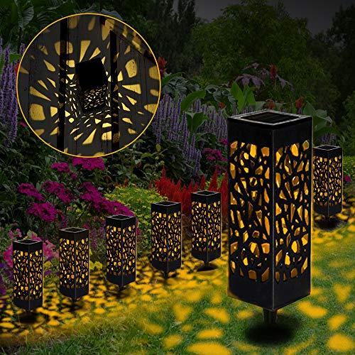 【8 Stück 】Solarleuchten Garten, Solar Gartenleuchte IP65 Wasserdichte, Solarlampen für Garten Solarleuchte Dekoration Licht für Außen Fahrstraßen Sicherheits Lichter Garten Patio Rasen