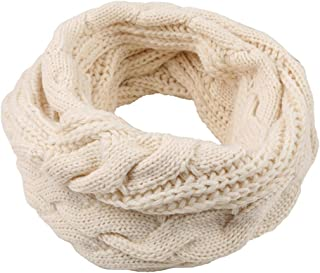 Colorido Women Winter Fashion Solid Color Faux Cashmere Warm Thick Scarf Hood Neck Circle