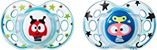 Tommee Tippee Closer to Nature Fun Style Baby Soothers, Multi-Color, 18-36M, 2 Count, Multi-Colour