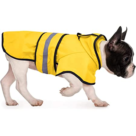 SPOT Ethical Products Fashion Pet Dog Raincoat for Medium Dog 100/% Polyester Water Proof New Dog Rain Jacket with Hood Dog Rain Poncho