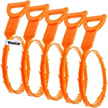 Vastar 5 Pack 19.6 Inch Drain Snake Hair Drain Clog Remover Cleaning Tool