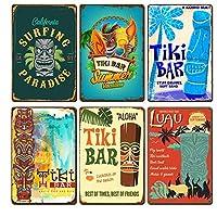 6枚セット アメリカ雑貨 レトロ ブリキ 看板 ビール 看板 アメリ バー ビール おしゃれ インテリア ヴィンテージ 小物 雑貨 インテリア 看板 (Color : 看板)