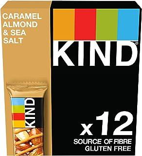 Kind Caramel Almond & Sea Salt Nut Bars, 12 X 40G Multipack - Gluten Free - 64% Nuts