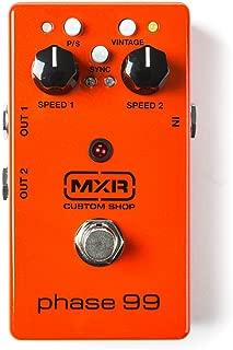 MXR CSP099 Custom Shop Phase 99 Vintage Phaser Pedal w/Bonus Dunlop PVP-101 Variety Pick Pack (x12) 710137066571