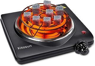 Allume Charbon Électrique Plaque Chauffante avec Thermostat 5 Positions Protection Surchauffe pour la Cuisine à la Maison ...