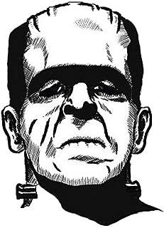 MFX Design Frankenstein Monster Bumper Sticker Decal Helmet Sticker Decal Black and White Vinyl - Made in USA 3.125 in. x 2.5 in.