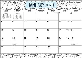 2020 Cats Desk Pad Calendar 15.5 x 11 Inches by Bright Day Calendars September 2019 - December 2020 Office Calendar