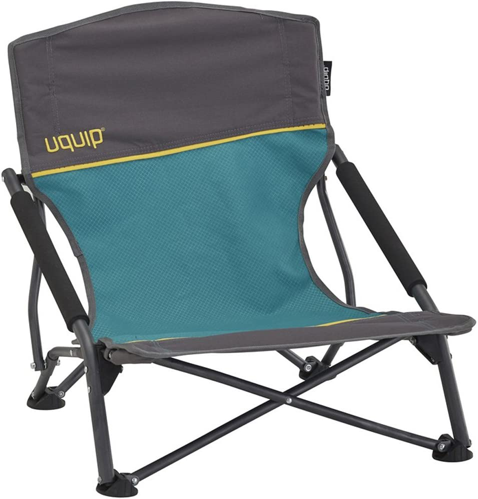 Uquip Sandy - Low Sling Beach Chair with Carry Bag (Blue)