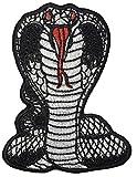 Fanged Cobra Snake Serpent Attack Striking patch biker heavy metal Horror Punk Emo Rock DIY Logo Jacket Vest shirt hat blanket backpack T shirt Embroidered Appliques Symbol Badge Cloth Sign Costume