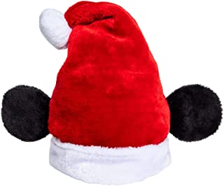 Disney Christmas Holiday Hat - Mickey Mouse Santa Hat with Ears Red