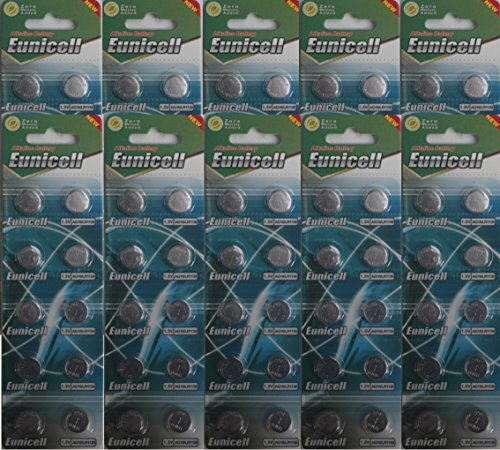 100x Pilas de botón (AG10, LR54, LR1130, L1131, SR1130W, 389G10 Pilas de botón