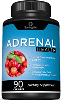 Premium Adrenal Support Supplement - Adrenal Formula for Energy, Adrenal Health & Mood – Adrenal Complex Includes Ashwagan...