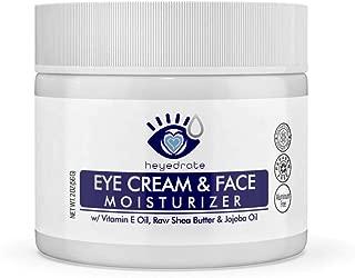 Eye Cream and Face Moisturizer with Vitamin E Oil, Raw Shea Butter & Jojoba Oil | Anti-Aging Eyelid and Facial Moisturizer to Reduce Dark Spots, Dark Circles & Wrinkles