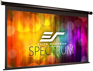 Elite Screens Spectrum Electric Motorized Projector Screen with Multi Aspect Ratio Function, Home Theater 8K/4K Ultra HD Ready Projection, ELECTRIC100H (Renewed)