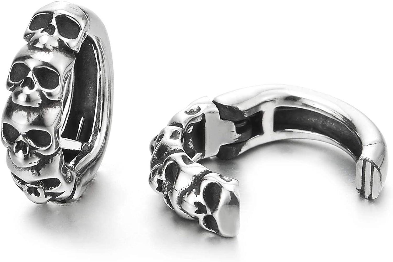 Pair Men Women Stainless Steel Retro Style Ear Skulls Max 67% OFF C Max 44% OFF Cuff