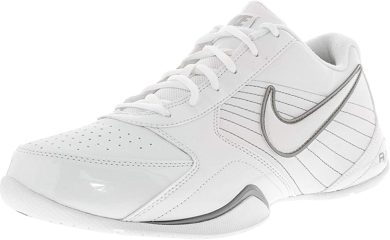 Air Baseline Low-Basketball-Schuh-wei   wei-metallische Silber 9 DM uns