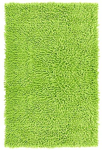 Lashuma Alfombrilla de baño de felpilla verde – Pistacho, absorbente, alfombrilla para baño, 50 x 80 cm