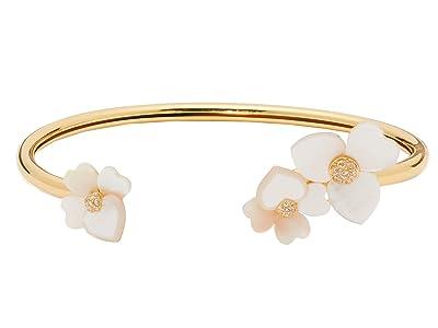Kate Spade New York Precious Pansy Flex Cuff Bracelet (Cream Multi/Gold) Bracelet