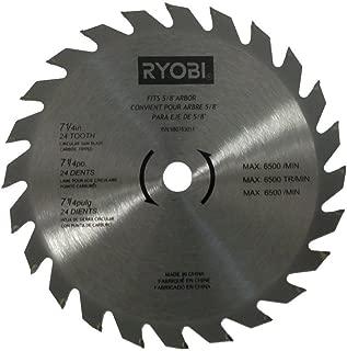 Ryobi 680783014 Circular Saw Blade 7 1/4in 24 Teeth Carbide Fits CSB142LZ, CSB143LZ, CSB144LZ, CSB122