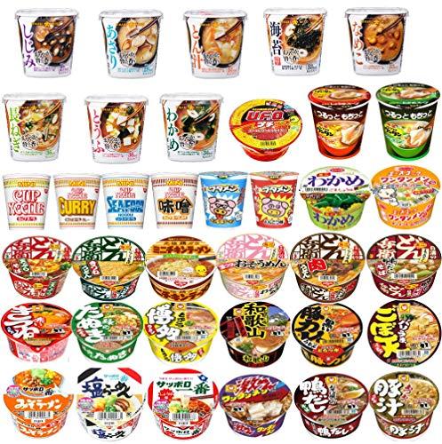 マルちゃん 日清食品 サッポロ一番 明星食品 エースコック ブタメン ミニカップ麺に味噌汁も入ったコラボ 30種セット