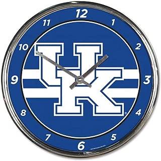 University of Kentucky UK Wildcats Chrome Wall Clock 12 inches Round
