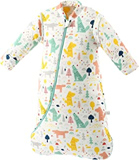 Dearup Sleepsack, Winter 100% Cotton Long Sleeve Babay Wearable Blanket (Forest, 6-12 Months)